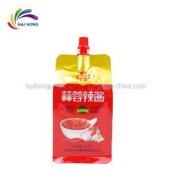 Ketchup doy pack personnalisé de la Sauce tomate à l'emballage plastique Sac Pochette de la tuyère de sauce chili
