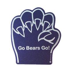 Pieds de l'ours de la mousse éponge main avec le logo d'impression