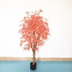 Qualitäts-dekorative Simulations-künstlicher rotes Ahornholz-Plastikbaum