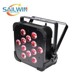 Stade de la Chine Lumière 12pcs 18W 6en1 LED UV Rgbaw WiFi Uplight Slim PAR, vous pouvez plat
