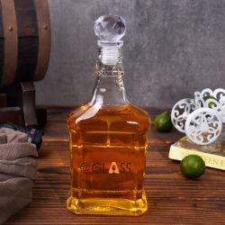 Rectangle de gros de la forme de bouteilles en verre de vin de liqueur alcool