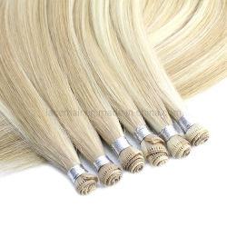 Высшее качество Virgin волосы продление Raw тонкие Handtied Weft Extensions