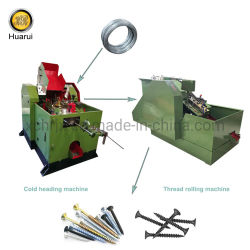 La partida en frío de alta velocidad de la máquina de perforación automática máquina de hacer el tornillo