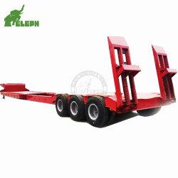 Lowboy Lowbed Truck Low Bed Flatbed Platform 확장형 세미 트레일러