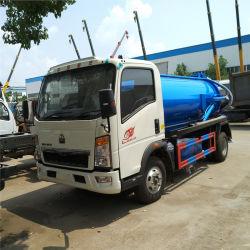 HOWO 4X2 Mini Sution fécale de l'assainissement des eaux usées Tanker véhicule spécial