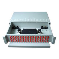 FTTH coulissants de montage en rack 48 coeurs panneau de raccordement à fibre optique