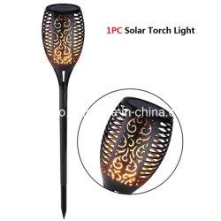 96/72/51/33/24 LED scintillement Solaire de Jardin Lampe torche de flamme (RS127)