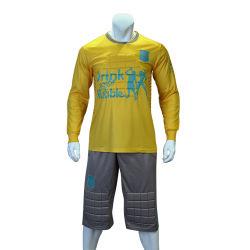 Toutes les tailles de gardien de but personnalisé prix d'usine uniforme, gardien de but de Soccer Jersey