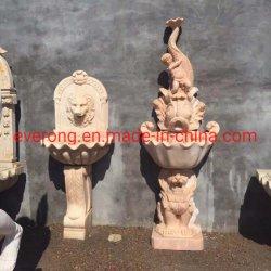 Piscina Antique esculpidos em pedra casa de banho em mármore Lavatório pia no comércio por grosso