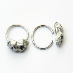 حارّ يبيع جراحيّ فولاذ خرزة حلقة مأسور مع [بيرسنغ] مجوهرات جمجمة [بكر]