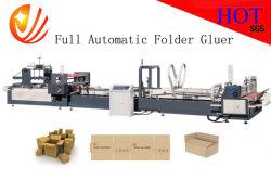 Carpeta Gluer automático de cartón corrugado y máquina de embalaje