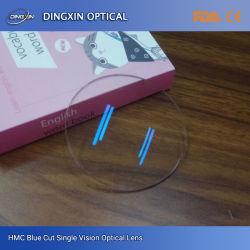 Bon prix 1,56 UV Lentille de lunettes de protection bleu420 avec certificats CE