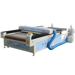 Tecido automático de grande formato pano / / / couro / Têxteis Alfaiataria Preço máquina de corte a laser 1630