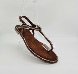 2020 أحذية فصل صيف [ت-تب] جديدة [رهينستون] ينظم خفاف [بين-تو] شاطئ مسطّحة خفاف نساء أحذية