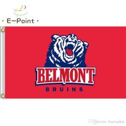 NCAA Belmont Bruins Bandera de poliéster a medida Banner Doble cara Impreso Casa decorativa y Jardín Banderas Regalos festivos