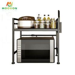 Bandeja de almacenamiento de hierro ajustables Multi-Functions Organizador Spice Rack Stand horno de microondas