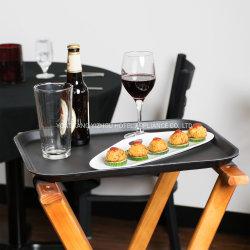 مقهى بار صينية مستطيلة الشكل غير منزلق يقدم العشاء المشروبات طبق الطعام