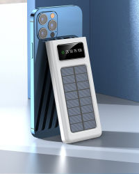 Venda por grosso Portable Solar Power Bank 20000 mAh banco de Potência Sunpower Carregador da Bateria