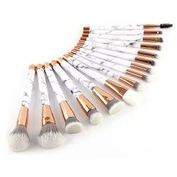 Amazônia Venda quente 15Mármore PCS Escovas de maquiagem Definir Contorno corar de pó Foundation Cosmetic Kit da Escova com rótulo privado