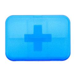 工場カスタムカラー健全なプラスチックPP小型Keychain金属子供のためのスマートな1つの7つの14の28の日の週間月例記憶のKeychainの丸薬箱