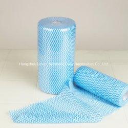 Eco-Friendly 100% 처분할 수 있는 면 짠것이 아닌 직물 유리제 청소 와이퍼 깨끗한 수건 롤