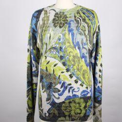 つばめのGirdのジャカード型パターンプリント女性は長い袖の円形首セーターを編んでいるプルオーバーの女性を編んだ