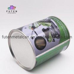 800ml Round La peinture peut avec couvercle, 1 pinte fer métallique de l'étain peut