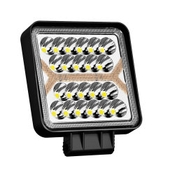 2020 Nouveau phare de travail LED carrés Flood-Faisceau d'avertissement, 5 modes d'éclairage, puces 16000LM haut, le travail de sauvegarde de brouillard de conduite hors route 150W de bouclier