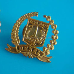 Gestempelschnittenes Alloy Badge in Gold Plating