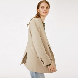O projeto mais recente do desgaste do Escritório de outono e inverno de peito Duplo Longsleeve Lady Suit Design