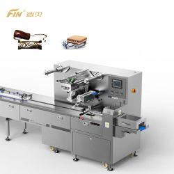رضاعة نظام Automatic Intelligence Servo تدفق عبوات تغليف الطعام آلة تغليف لبار الشوكولاته والشمعة الصلبة الناعمة