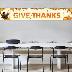 Dank-Fahnen-Innen-/im Freiengebrauch-Gewebe-Zaun-Fahne geben