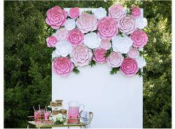 DIY Paper Flower Decoration Round Rose Wedding Party Decoration Achtergrond Muurdecoratie Tridimensionaal Bloemkleur 3D Bloem verjaardag Feest Decoratie