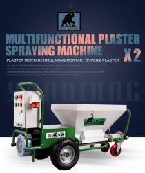 Bewegungskleber-Sprüher-Wand-Pflaster-Mörtel-Spritzlackierung-Maschine der Qualitäts-X2