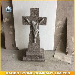 G635 розового гранита Иисуса дизайн Tombstone памятник дизайн