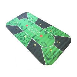 Pano de mesa de tapete de poker do Casino de melhor qualidade, borracha azul personalizada Com Custom Design Factory