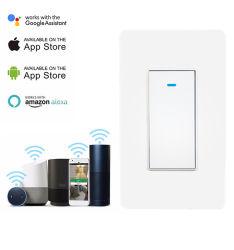 Nosotros el Control de voz 1 Módulo de interruptor de botón Puch WiFi inteligente