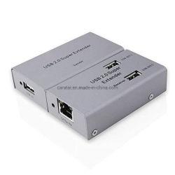 امتداد USB متعدد المنافذ 50M عبر كابل إيثرنت Cat5 CAT6 لأعلى إلى وصلة امتداد 164 قدمًا مع 4 بيانات منفذ توسيع USB محول الطاقة Hub لكاميرا ويب Exte