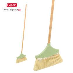 Высокое качество очистки домашних хозяйств пластиковые метлы с длинной ручкой из бамбука