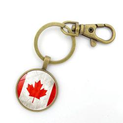 Le métal Custom Canada l'anneau de clé de souvenirs