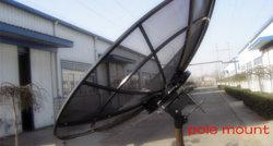 8 أقدام 240 سم 2.4 م ج Ku Band Satellite TV Digital HD Paraboloic Paraboloid Steel Fiber Iron Plate Outdoor GSM GPS هوائي الأقمار الصناعية