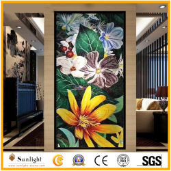 Novo estilo de Arte em Vidro de cores misturadas murais em mosaico para parede