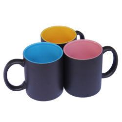 11oz haut grade Tasse en céramique colorée intérieure de la SUBLIMATION SUBLIMATION Vierge Mugs