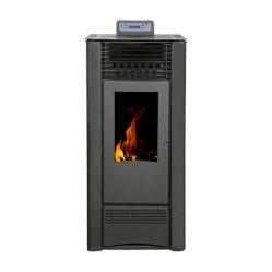 スタイリッシュな家のヒーターは燃やされた木製のペレト / 木製のストーブ / 木製の暖炉燃料と 調節可能なサーモスタット / オーバーヒート保護 / リモートコントロール