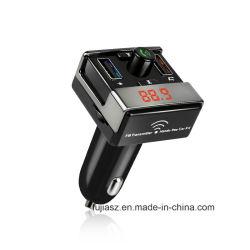 Bluetooth mains libres sans fil universel voiture Transmetteur FM avec chargeur allume-cigare de voiture USB