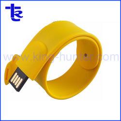 Gifle bracelet en silicone souple pouce Disque USB Pen Drive