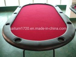 Oval Folding Poker Table voor 10 personen met Iron Leg