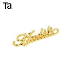 Carta de metal de alta calidad personalizado con Logo para el bolso