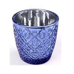 Vendita all'ingrosso di supporti per candele in vetro Mercury Silver