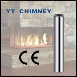 Tube intérieur du tube extérieur de 8 pouces de 10 pouces à double paroi isolée cheminée se tord de coude de raccord en T de tuyaux en acier